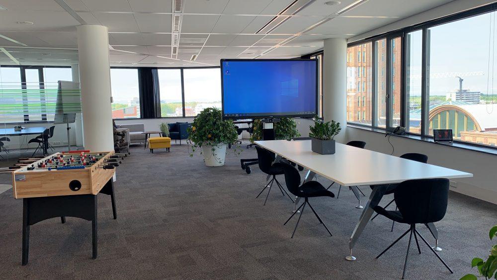 Touchscreen voor vergaderruimte